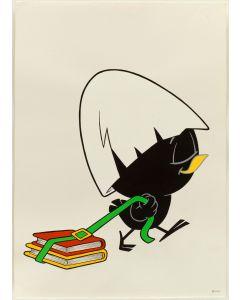 Pagot, Disegno su carta, Calimero, 50x70 cm