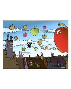 Pagot, Grafica su carta, Calimero e Magritte, 50x33 cm