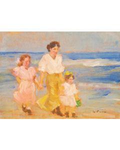 Daniela Penco, Passeggiando, olio su cartone telato, 18x13 cm