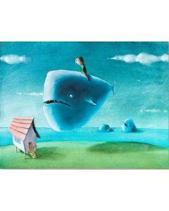Diego Santini, Quella è casa mia, Giclée art print ritoccata a mano, 35x45 cm
