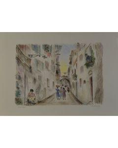 Michele Cascella, Vicolo a Ortona, serigrafia, 50x70 cm