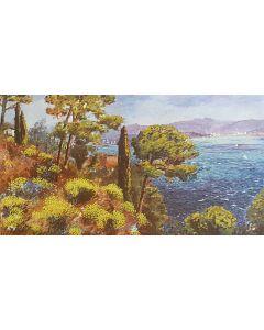 Michele Cascella, Senza titolo, serigrafia p.a. pastellata su sughero, 78,5x49,5 cm