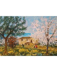 Michele Cascella, Primavera a Ortona, serigrafia p.a., 87x65 cm