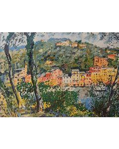 Michele Cascella, Senza titolo, serigrafia, 69x89 cm