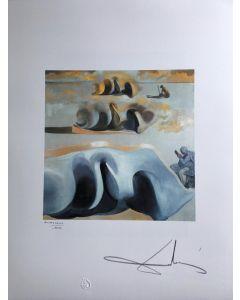 Salvador Dalì, Tre gloriosi enigmi di Gala, litografia, 50x65 cm, 1988
