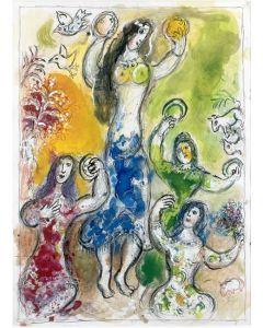 Marc Chagall, La danza di Myriam, Litografia colorata, 22x30 cm