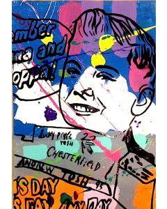 Andrew Tosh, Chesterfield, acrilico e smalto su carta, 48x33 cm