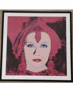Andy Warhol, Mata Hari (Greta Garbo), poster firmato, 59x59 cm, 1981