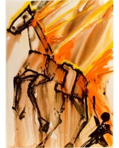 Salvador Dalì, Clavilegno, litografia, 36x56 cm tratta da Les Chevaux de Dalì, 1970-72