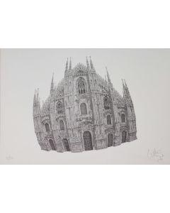 Giovanni Franzi, Il Duomo, litografia, 35x49 cm