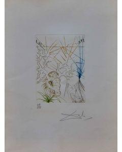 Salvador Dalì, Le allegre comari di Windsor  tratto da Much Ado about Shakespeare II, acquaforte a colori, 46x29 cm, 1970