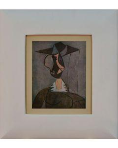 Pablo Picasso, Femme au chapeau, litografia, 26x21 cm