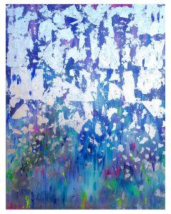 Francesco Cerutti, Fiamma violetta, tecnica mista, 90x70 cm