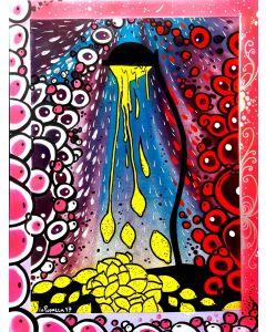 La Pupazza, Il Lampiolimone, acrilico e spray su tavola, 60x80 cm