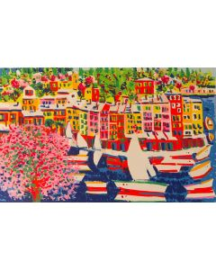 Athos Faccincani, Portofino, serigrafia, 70x100 cm