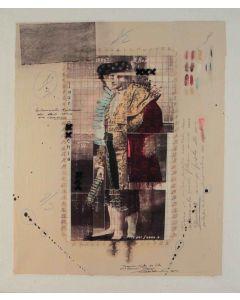 Enrico Pambianchi, Torero, tecnica mista su tela, 40x47,5 cm, 2012