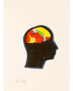 Marco Lodola, serigrafia ritoccata a mano, 33x24 cm
