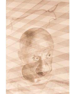 Oscar Morosini, Ritratto di Picasso, acquarello, 24,5x34,5 cm