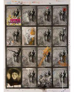 Enrico Pambianchi, BOOM - THOOM, tecnica mista su tavola, 50x70 cm, 2013