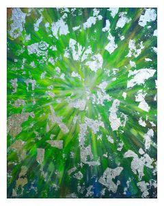 Francesco Cerutti, Luce di guarigione, tecnica mista, 50x40 cm