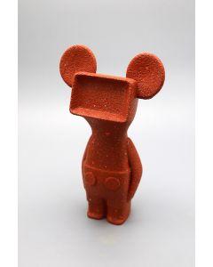 Fè, Mickey, scultura in 3d verniciata a mano, h 23 cm