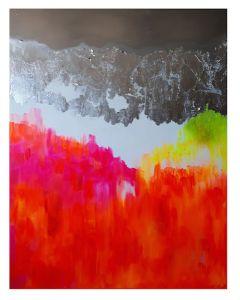 Francesco Cerutti, Om nama shivaya, tecnica mista, 90x70 cm