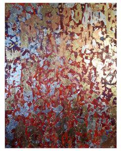 Francesco Cerutti, Om Shanti, tecnica mista, 70x90 cm