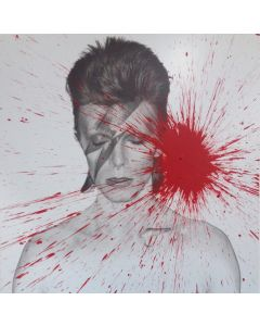 Julian T, David Bowie, acrilico su PVC, 100x100 cm, 2016