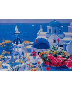 Giorgio Cesati, Splendido splendente, serigrafia su tela, 55x40 cm