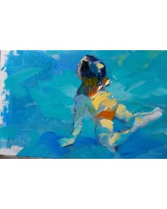 Claudio Malacarne, Little girl, olio su tela, 30x20 cm