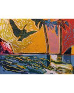 Togo, Il sogno si avvera, olio su tela, 60x80 cm