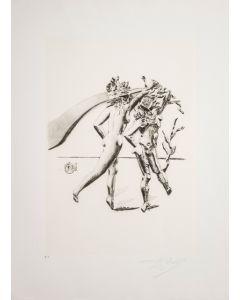 Salvador Dalì, La Danza, da la serie Le Arti, seri-litografia, 70x50 cm