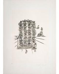 Salvador Dalì, Genesi, da la serie Le Arti, seri-litografia, 70x50 cm