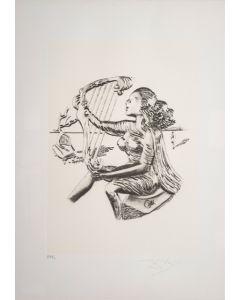 Salvador Dalì, La Musica, da la serie Le Arti, seri-litografia, 70x50 cm