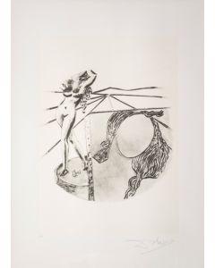 Salvador Dalì, La Pittura, da la serie Le Arti, seri-litografia, 70x50 cm
