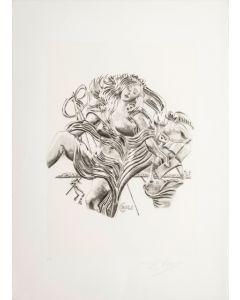 Salvador Dalì, La Poesia, da la serie Le Arti, seri-litografia, 70x50 cm