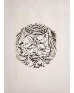 Salvador Dalì, La Recitazione, da la serie Le Arti, seri-litografia, 70x50 cm