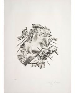 Salvador Dalì, La Scultura, da la serie Le Arti, seri-litografia, 70x50 cm