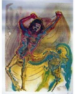 Salvador Dalì, Il Centauro di Creta, litografia, 36x56 cm tratta da Les Chevaux de Dalì, 1970-72