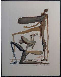 Salvador Dalì, La Prodigalità, tratto da La Divina Commedia, Xilografia, 33x26,2 cm, 1960/63