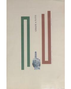 Daniele Miradoli, Grazie a tutti, serigrafia, 50x70 cm