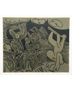 Pablo Picasso, Danseurs et musicien, Linoleografia, 27x32,5 cm