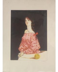 De Andreis, fanciulla, Litografia, 56x76 cm