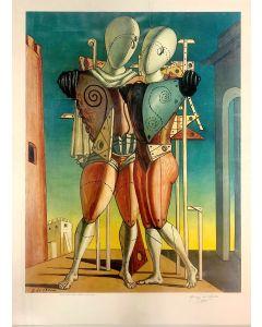 Giorgio De Chirico, Ettore e Andromaca, poster firmato, 87x65 cm