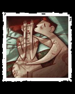 Giulia Del Mastio, Lui e Lei, Grafica Fine Art, 30x30 cm
