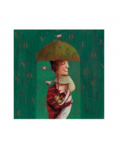 Giulia Del Mastio, Un ombrello per tre, Grafica Fine Art, 38x30 cm