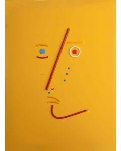 Bruno Budassi (Del Buda), Personaggio stellare, acrilico su tela, 80X60 cm