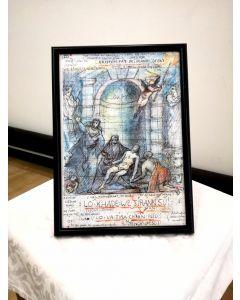 Giancarlo Prandelli, Deposizione di Cristo, inchiostro e matita colorata su carta, 29,5x20,5cm (D187)