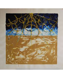 Mario Schifano, Deserti, serigrafia su carta, 100x100 cm