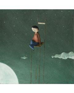 Diego Santini, Da quassù, comunque romantica, Giclée art print ritoccata a mano, 33x33 cm